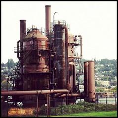 industry, iron, oil field,