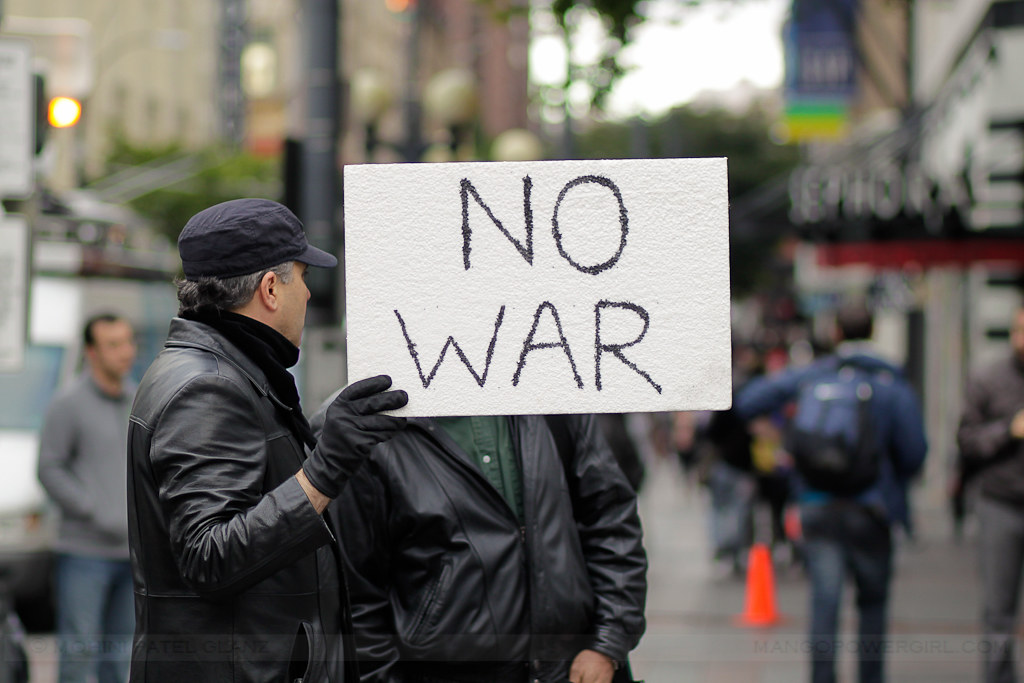 occupy seattle - no war