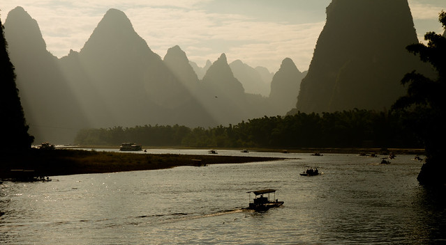 Boating on the Li River