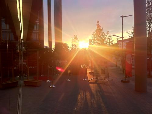 street sunset sun soleil great coucher grand flare luxembourg rue kirchberg duchy duche axento