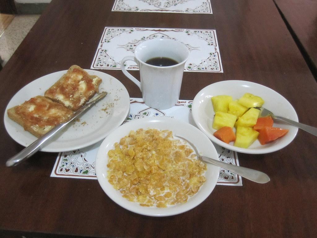 Bogota Colombia Hostel Breakfast