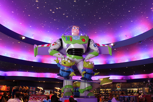 Buzz Lightyear oversees the action at Constellations