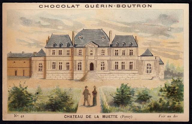 French Tradecard - Chateau de la Muette