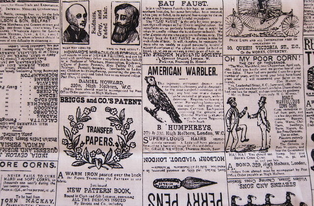 vintage newspaper advertising fabricVintage Newspaper Ads