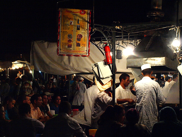 Night market at Jemaa El Fna