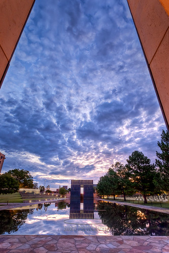 morning oklahoma sunrise cityscape hdr federalbuilding survivortree nationalmemorial oklahomacityok gatesoftime