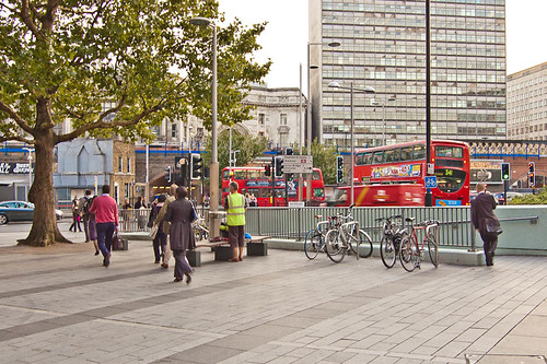 Urban landscape around Waterloo station