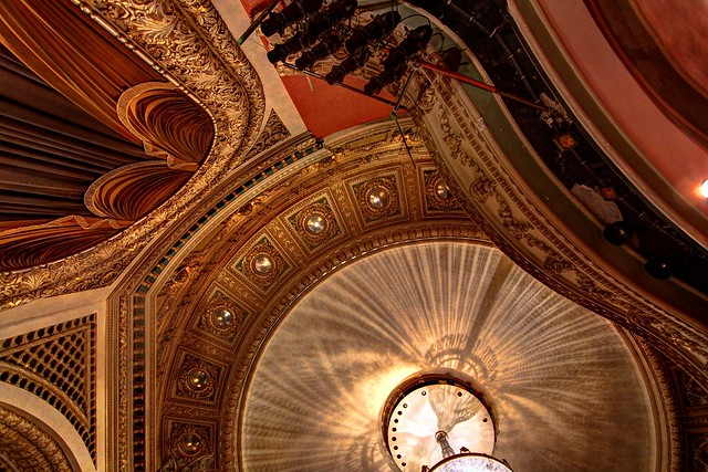 Looking up at the Pabst Theater