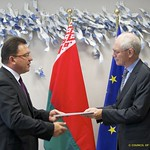 Mr Andrei Yeudachenka, Head of the Mission of the Republic of Belarus to the European Union, presents his credentials to the President of the European Council, 27 September 2011