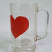 Swedish heart glass