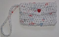 Recycled Plastic Bag Wristlet Purse