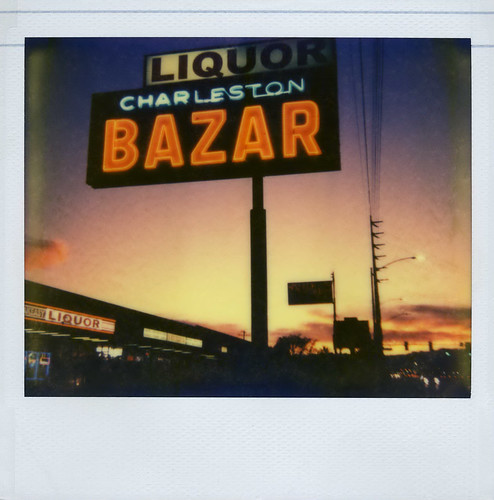 city vegas blue sunset sky orange black classic film colors sign analog vintage polaroid evening store twilight colorful downtown neon lasvegas nevada nick scan retro powerlines liquor signage handheld polaroidspectra polaroidcamera instantfilm epson4490 colorshade polaroidspectrasystem integralfilm nickleonard charlestonbazar charlestonblvd theimpossibleproject polaroidonyx pz680