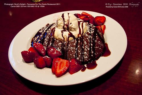 Devils Delight - Pancakes on The Rocks Restaurant