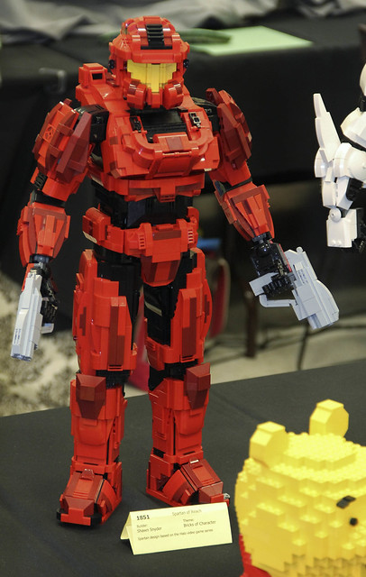 Lego halo spartan of reach by shawn snyder at brickcon - Lego spartan halo ...