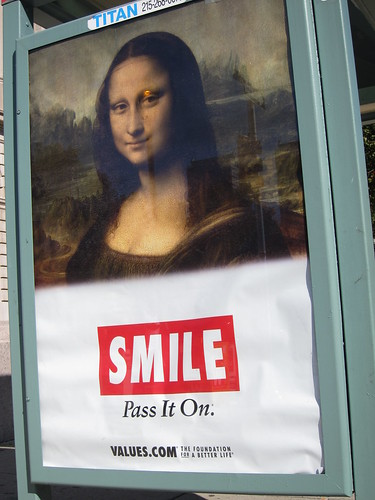 Mona Lisa on Bus Shelter by sameold2010