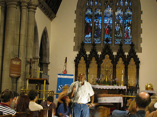 Abayomi Azikiwe, editor of the Pan-African News Wire, addressing the first General Assembly of the Occupy Detroit movement. The event attracted over 1,000 at the Spirit of Hope Church. (Photo: Alan Pollock) by Pan-African News Wire File Photos