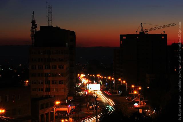 Yerevan at sunset