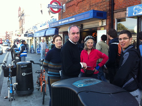 Outside West Hampstead Tube Station