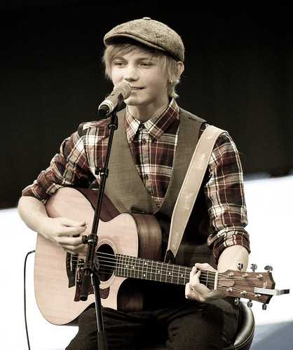 Ulrik Munther performs during the opening-ceremony.