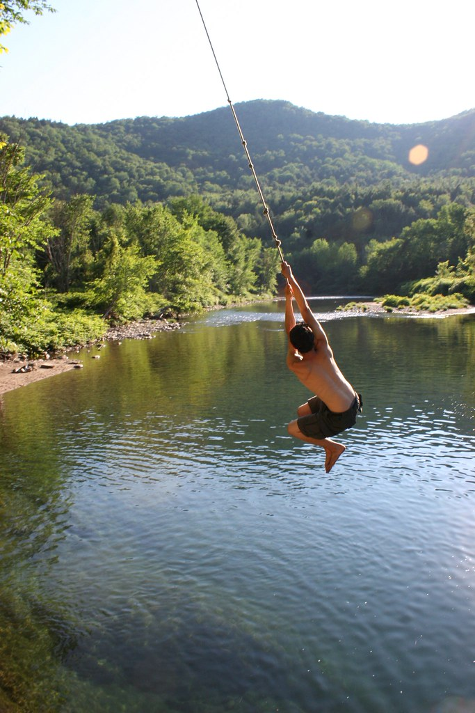 Awesome Mcawesome Rope Swing White River Rochester Vt Flickr