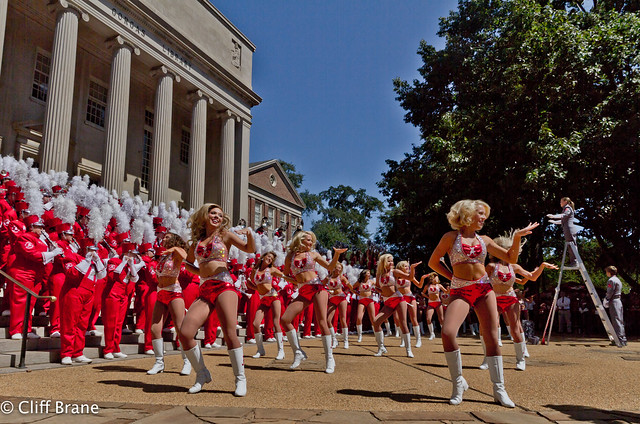Million Dollar Band - Majorettes & Woodwinds on Arkansas Game Day 2011