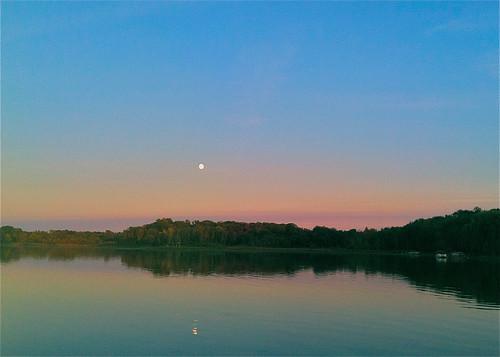Moonrise over Blake Lake