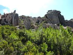 Castellu Muratu : l'entrée et l'enceinte des fortifications
