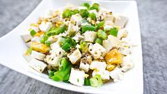 coconut(0.0), cruciferous vegetables(0.0), plant(0.0), produce(0.0), fruit(0.0), potato salad(0.0), waldorf salad(0.0), salad(1.0), vegetable(1.0), side dish(1.0), vegetarian food(1.0), food(1.0), dish(1.0), cuisine(1.0), feta(1.0),