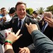 Libya visit - PM greeted by crowd