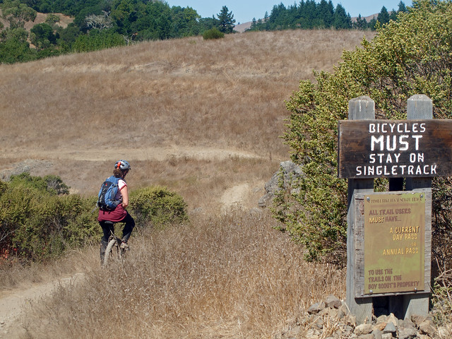 Bikes MUST stay on singletrack