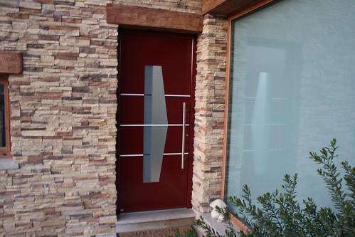 puerta entrada aluminio acorazada