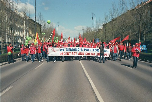 European trade union demonstration
