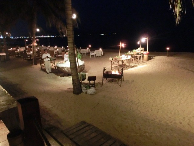 Dining on the beach - Evason Ana Mandara Nha Trang