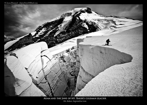 In the jaws of Mount Baker