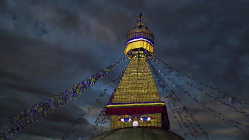 nepal storm night evening abend eyes niceshot nacht buddha buddhism kathmandu spirituality buddhismus buddhaseyes bodhnathstupa mygearandme ringexcellence