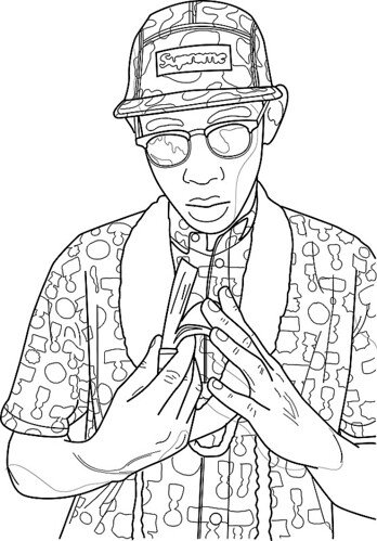 coloring book creator tyler the creator contour drawing illustrator bamboo pad - Coloring Book Creator