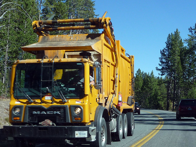 Yellow Garbage Truck | Flickr - Photo Sharing!
