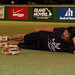 A Dillinghamma player takes a break between games. Every team played at least twice in the UH AUW Softball Tourment at Les Murakami Stadium on Sept. 30, 2011