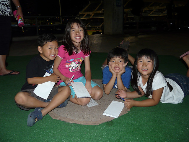 <p>Kids at at UH AUW Softall Tournament 2011 at Les Murakami Stadium on Sept. 30.</p>