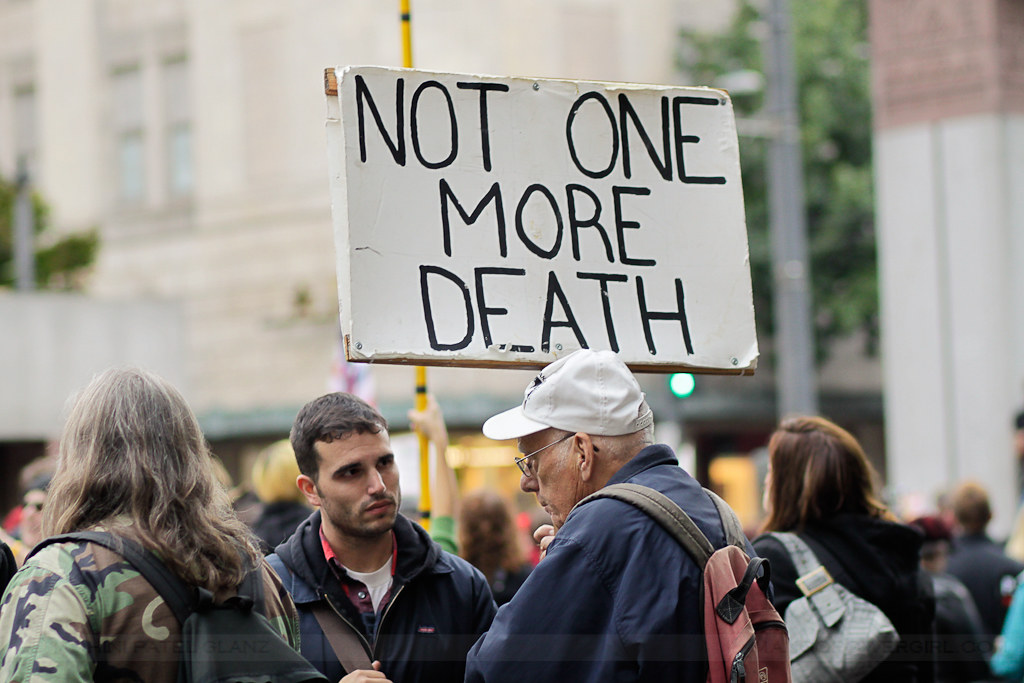 occupy seattle - not one more death
