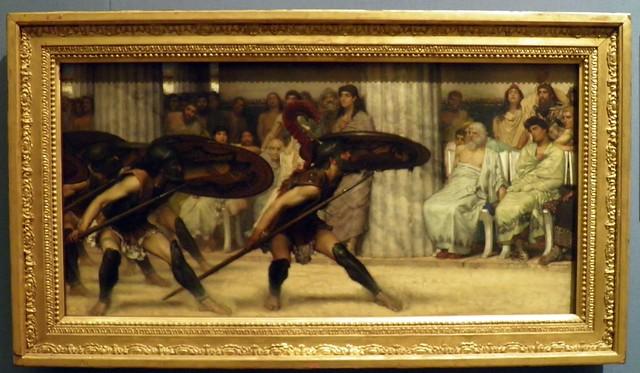 A Pyrrhic Dance - Sir Lawrence Alma-Tadema (1869), Guildhall Art Gallery, London