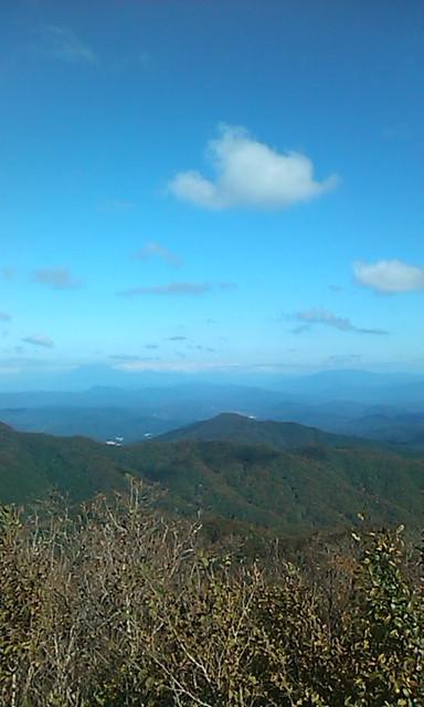 船通山頂上からの眺め