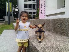 Emily與清華校狗