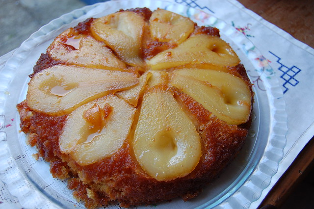 Pear Upside-Down Cake   Flickr - Photo Sharing!