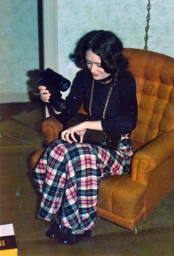 Laura's new binoculars!