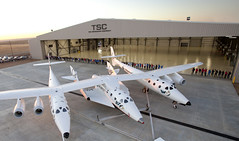 THE SPACESHIP COMPANY -  DEDICATION OF NEW HANGAR. Photo by Mark Greenberg