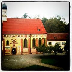 Der wunderschöne Innenhof der Int. Jugendbibliothej