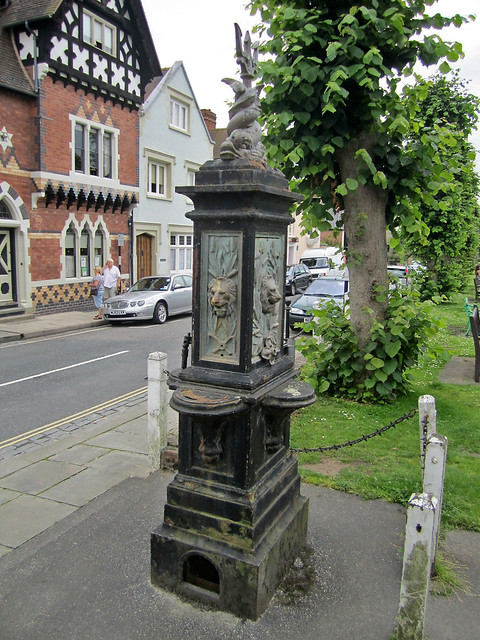 Drinking fountain outside the castle, Ludlow, Shropshire