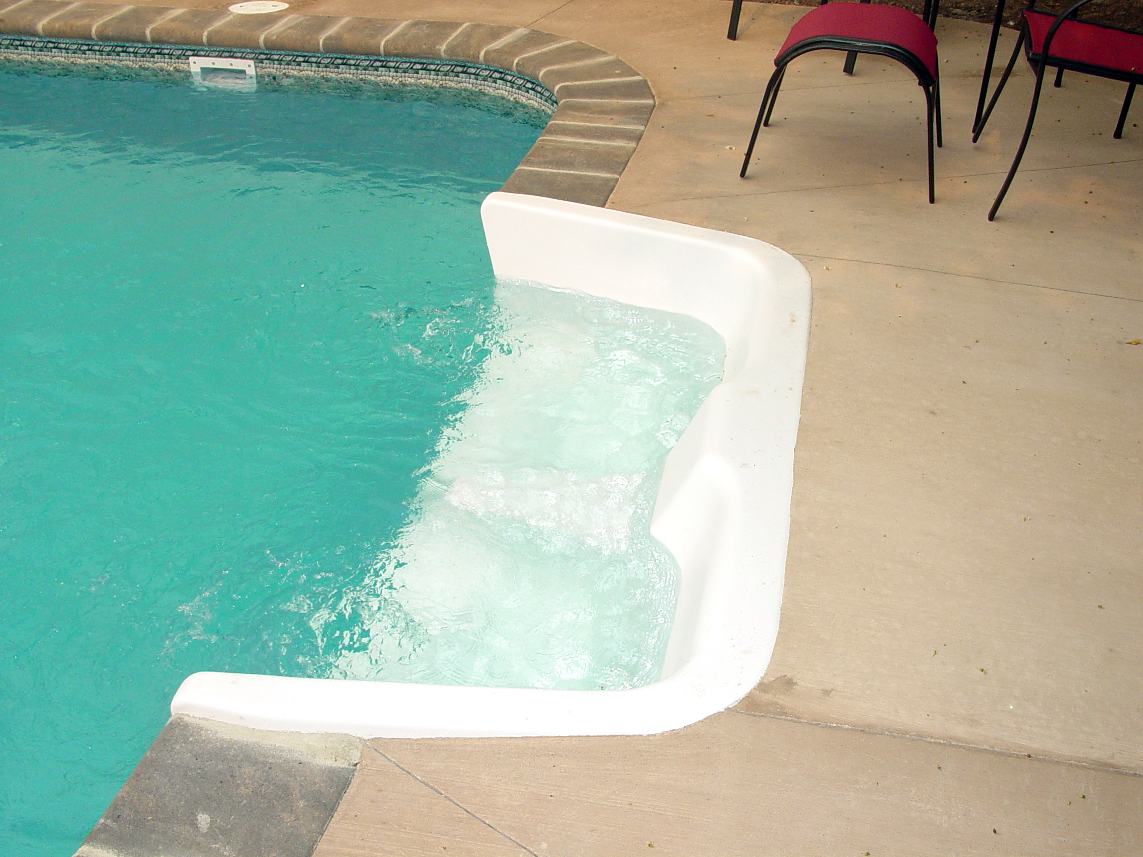 Inground Swimming Pool 6ft In Wall Seat With Jets Flickr Photo Sharing