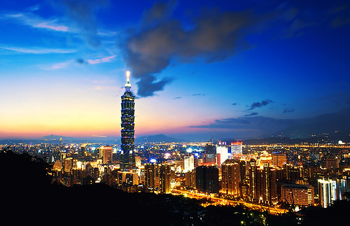 Taipei 101 at blue hour